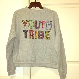 """Long sleeve, cozy, """"Youth Tribe"""" sweater"""